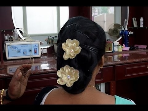 Kerala Christian Bridal Easy Hairstyle 1 (Full Tutorial) – Youtube Pertaining To Christian Bridal Hairstyles For Short Hair (View 6 of 15)