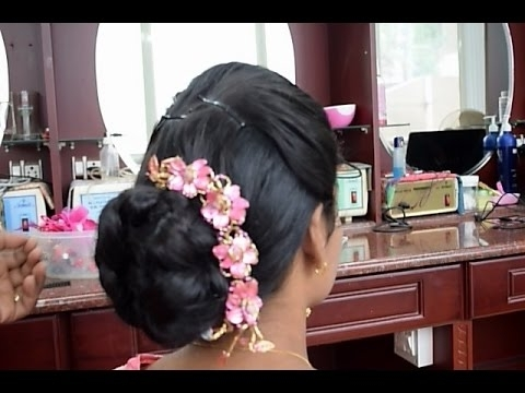 Kerala Christian Bridal Easy Hairstyle 2 (Full Tutorial) – Youtube With Christian Bride Wedding Hairstyles (View 13 of 15)