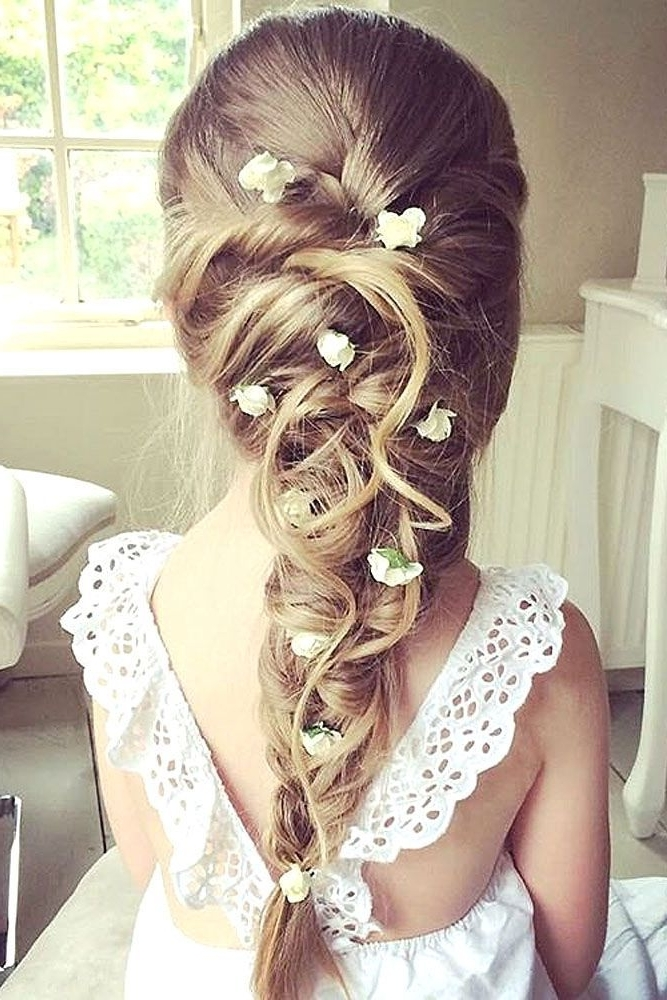 Kommunions Haare | Wedding Hair | Pinterest | Communion, Hair Style Inside Wedding Hairstyles For Girls (View 12 of 15)