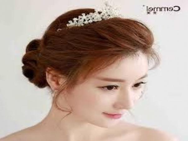 Koreanwedding Hairstyle 10 | Korean Wedding, Korean And Weddings In Korean Wedding Hairstyles (View 10 of 15)