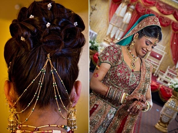 Latest Bridal Hairstyles For Wedding Sarees – Indian Hairstyles For For Indian Wedding Reception Hairstyles (View 4 of 15)