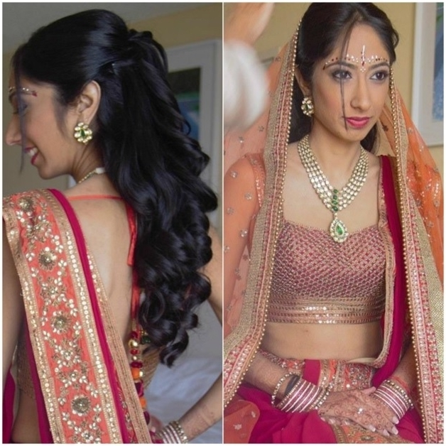 Latest Bridal Hairstyles For Wedding Sarees – Indian Hairstyles For With Regard To Wedding Hairstyles For Sarees (View 11 of 15)