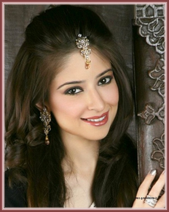 Latest Hair Style For Indian Wedding Elegant Indian Wedding Inside Indian Wedding Hairstyles For Shoulder Length Hair (View 6 of 15)