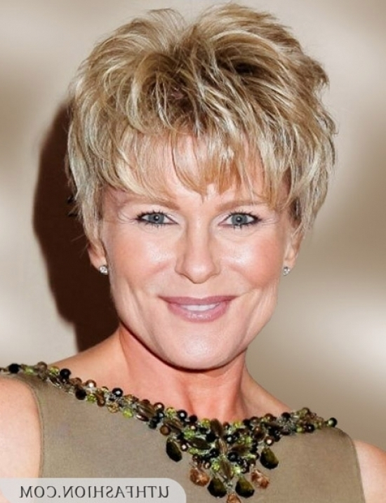 Latest Short Hairstyles For Women Over 50 Pertaining To Short With Regard To Wedding Hairstyles For 50 Year Olds (View 12 of 15)
