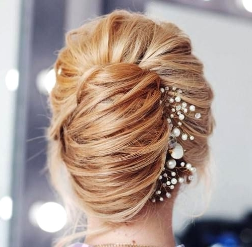 Latest Wedding French Roll Hairstyle With Roll Hairstyles For Wedding (View 14 of 15)