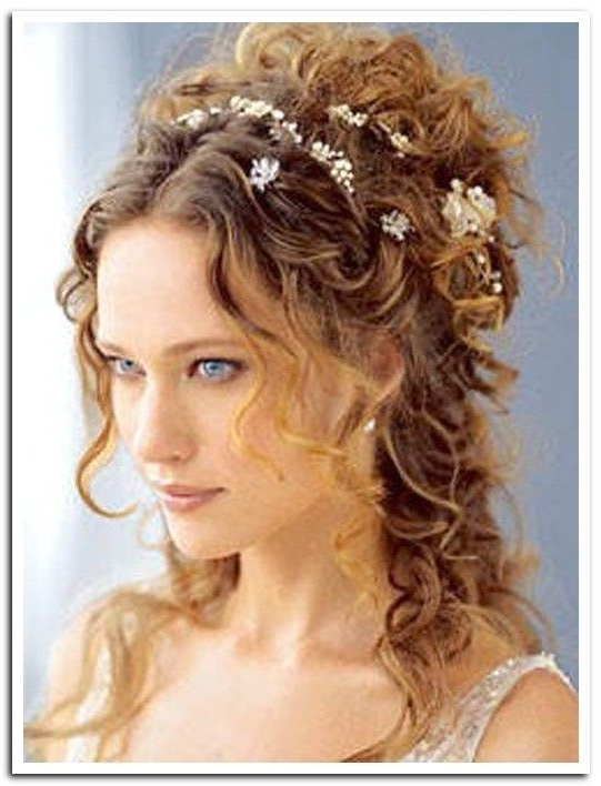 "Long Curly Hair Style Love The Little Flowers ""falling"" 