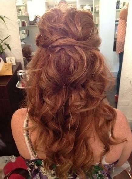 Long Curly Hairstyles 2014: Tied Up Hairstyles For Long Curly Hair With Regard To Tied Up Wedding Hairstyles For Long Hair (View 12 of 15)