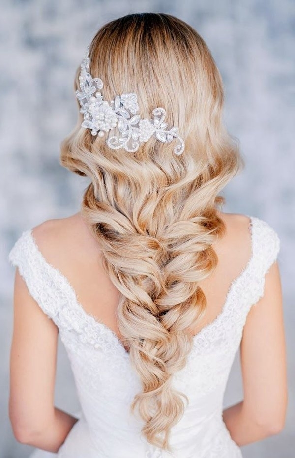 Long Elegant Blond Bridal Hairstyle | Sang Maestro Pertaining To Wedding Hairstyles For Blonde (View 13 of 15)