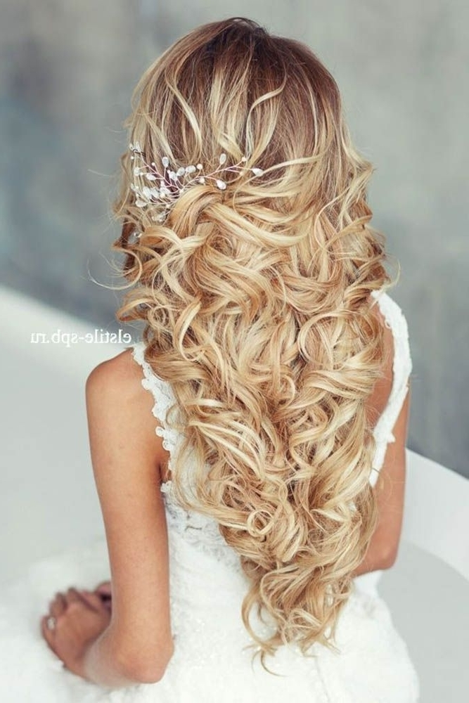 Long Hair Wedding Styles Alluring 45 Most Romantic Wedding Regarding Wedding Hairstyles For Long Romantic Hair (View 8 of 15)