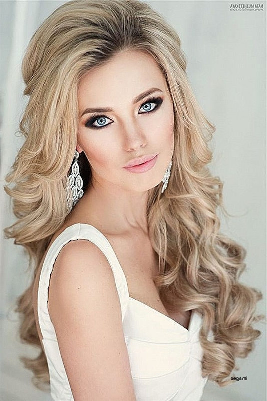 Long Hairstyles: Awesome Bride Hairstyles For Long Hair Down Wedding With Down Long Hair Wedding Hairstyles (View 15 of 15)