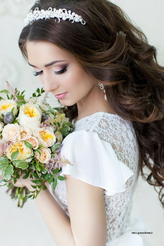 Long Hairstyles For Wedding With Tiara Awesome Wedding Hairstyles With Regard To Wedding Hairstyles For Long Hair With Tiara (View 9 of 15)