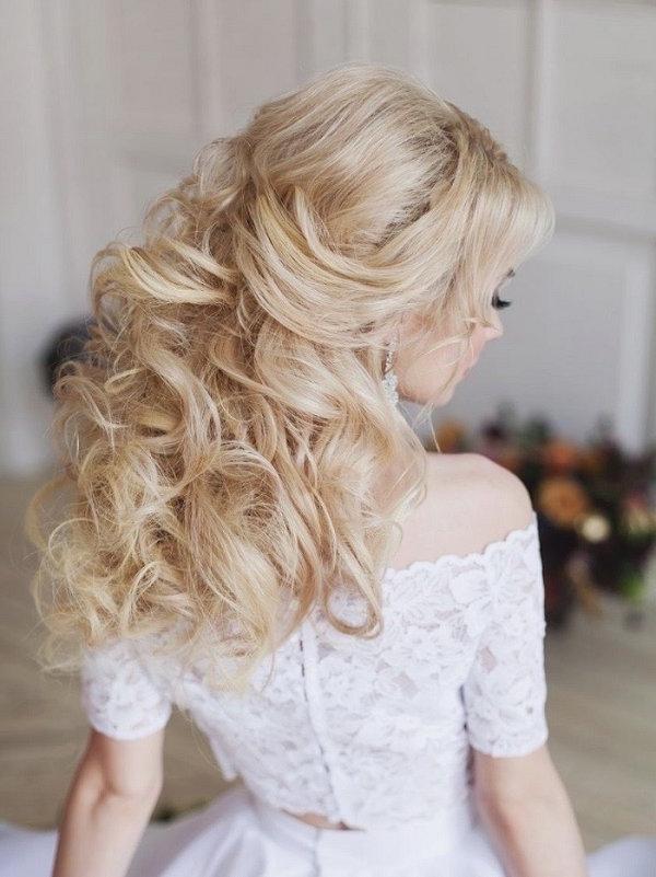 Long Messy Wedding Hairstyle   Deer Pearl Flowers Pertaining To Messy Wedding Hairstyles For Long Hair (View 9 of 15)