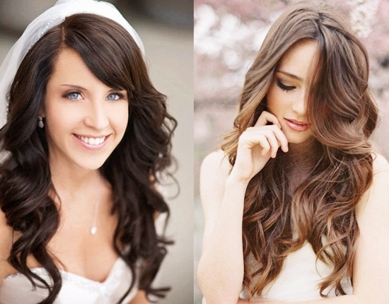 Long Wavy Wedding Hairstyle Idea | Medium Hair Styles Ideas – 27245 For Wedding Hairstyles For Long Wavy Hair (View 7 of 15)