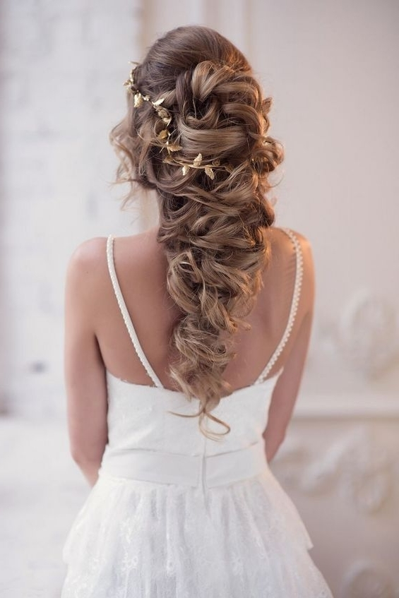 Long Wedding Hairstyles & Bridal Updos Via Elstile 65 | Deer Pearl Regarding Wedding Hairstyles For Bride (View 13 of 15)