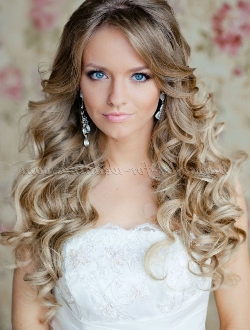 Long Wedding Hairstyles – Curly Wedding Hairstyle For Long Hair Throughout Wedding Hairstyles For Long Hair With Curls (View 12 of 15)