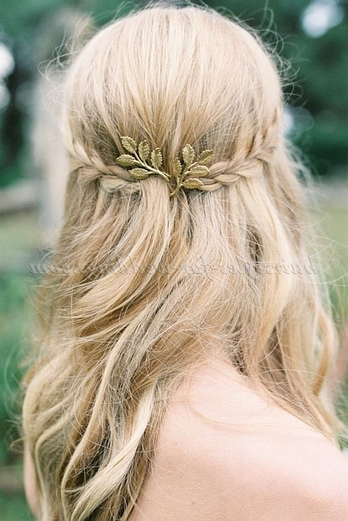 Long Wedding Hairstyles – Hair Down Bridal Hairstyle With Braid Within Wedding Hairstyles Down With Braids (View 7 of 15)