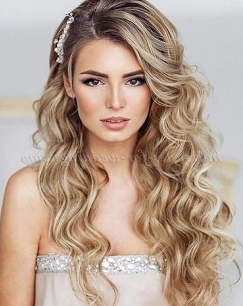 Long Wedding Hairstyles – Hair Down Wedding Hairstyle | Hairstyles Intended For Long Hair Down Wedding Hairstyles (View 8 of 15)