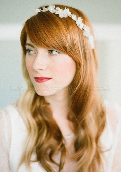 Long Wedding Hairstyles – Hair Down Wedding Hairstyle With Headband Within Wedding Hairstyles Down With Headband (View 9 of 15)