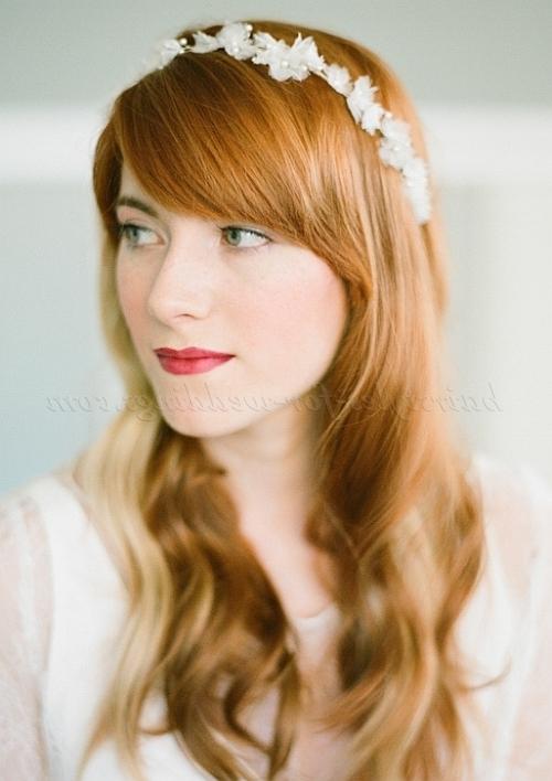 Long Wedding Hairstyles – Hair Down Wedding Hairstyle With Headband Within Wedding Hairstyles For Long Hair With Headband (View 6 of 15)
