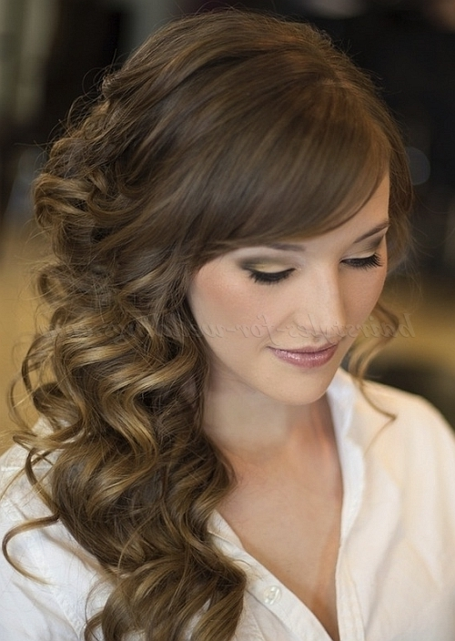 Long Wedding Hairstyles – Side Swept Wedding Hairstyle | Hairstyles Pertaining To Down To The Side Wedding Hairstyles (View 10 of 15)