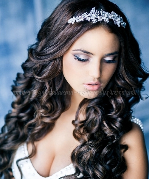 Long Wedding Hairstyles – Wavy Hair Down Hairstyle For Brides Throughout Down Long Hair Wedding Hairstyles (View 8 of 15)