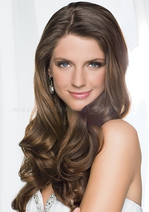 Long Wedding Hairstyles – Wavy Wedding Hairstyle For Long Hair Pertaining To Wedding Hairstyles For Long Wavy Hair (View 10 of 15)