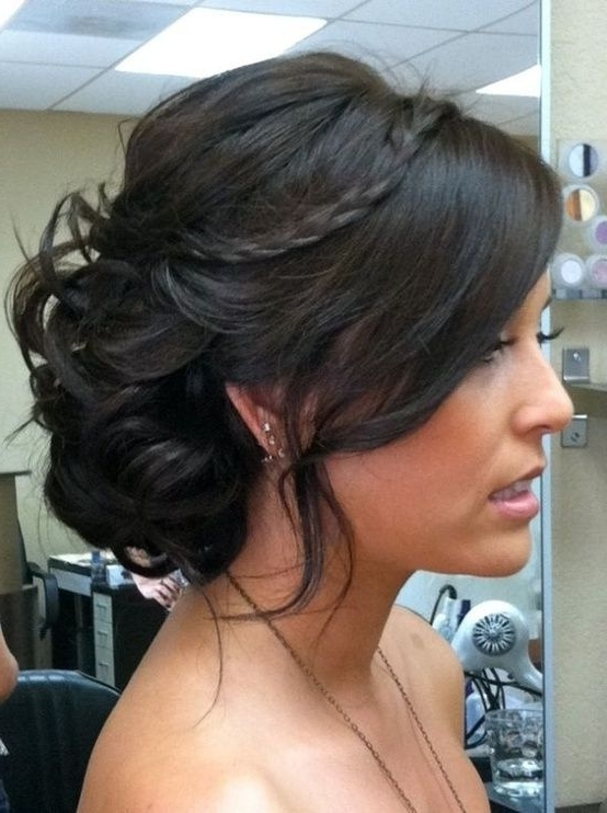 Love Long Hairstyles With Fringe? Wanna Give Your Hair A New Look Inside Wedding Hairstyles For Medium Length Dark Hair (View 13 of 15)
