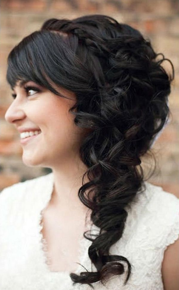 Love The Cascading Curls Over One Shoulder (View 12 of 15)