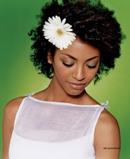 Lovely African American Wedding Natural Hairstyles 2018 Pertaining To Wedding Hairstyles For Natural African American Hair (View 8 of 15)