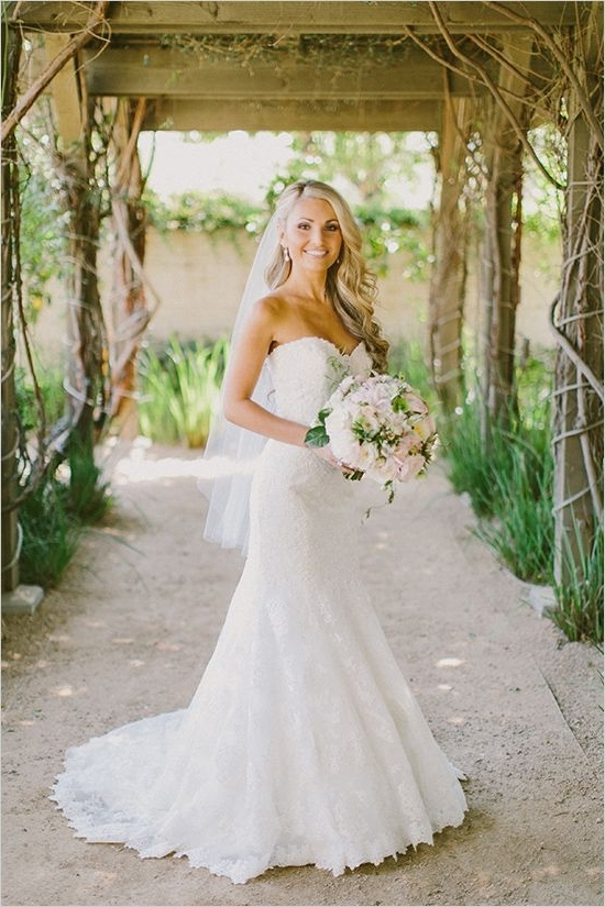 Lovely And Lush Romantic Wedding | Pinterest | Gowns, Weddings And With Regard To Wedding Hairstyles For A Strapless Dress (View 13 of 15)