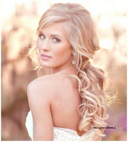 Featured Photo of Wedding Hairstyles For Long Hair Pulled To The Side