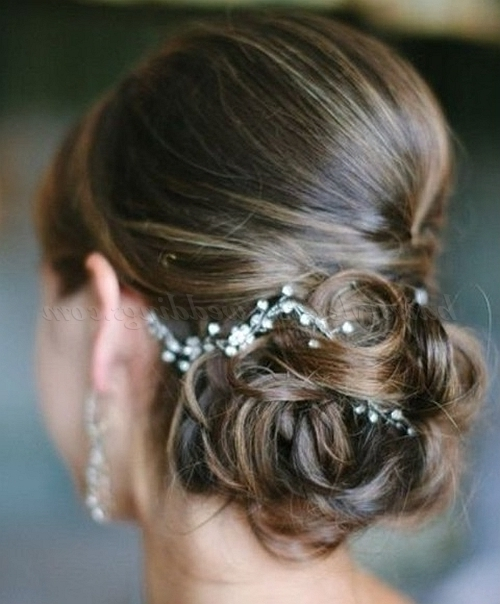 Low Bun Wedding Hairstyles – Chignon Wedding Hairstyle | Hairstyles With Regard To Chignon Wedding Hairstyles (View 9 of 15)
