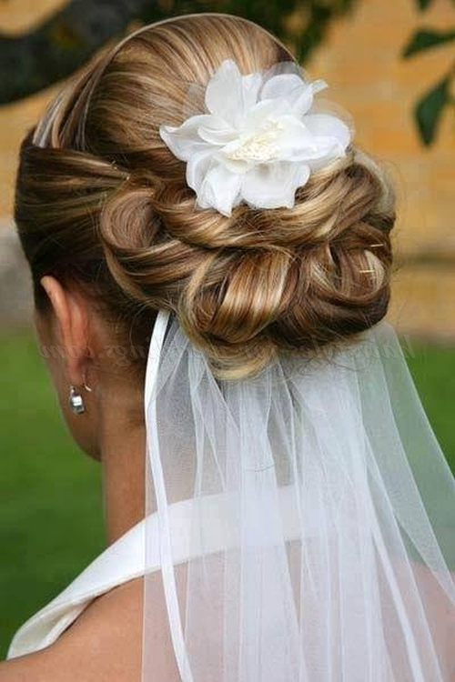 Low Bun Wedding Hairstyles – Chignon With Wedding Veil | Hairstyles With Regard To Chignon Wedding Hairstyles (View 10 of 15)