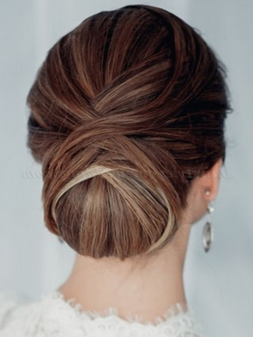 Low Bun Wedding Hairstyles – Low Bun Wedding Hairstyle | Hairstyles For Wedding Hairstyles For Long Bun Hair (View 9 of 15)