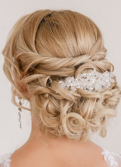 Low Bun Wedding Hairstyles – Twisted And Curled Chignon For Weddings Pertaining To Chignon Wedding Hairstyles For Long Hair (View 7 of 15)