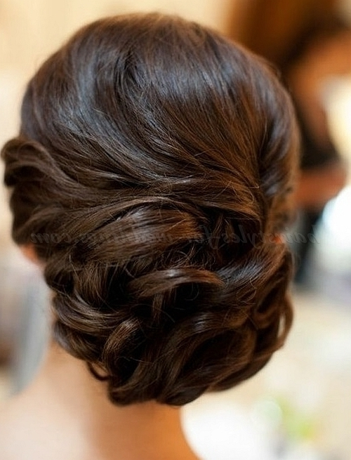 Low Bun Wedding Hairstyles – Wedding Chignon | Hairstyles For With Regard To Chignon Wedding Hairstyles For Long Hair (View 14 of 15)