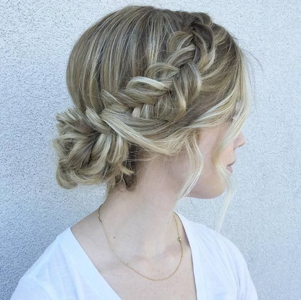 Low Updo For Medium Length Hair | Hair Color Ideas And Styles For 2018 In Medium Length Updo Wedding Hairstyles (View 6 of 15)