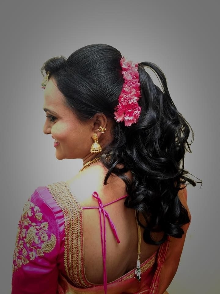 Luxury Indian Wedding Reception Hairstyles For Long Hair Within Wedding Reception Hairstyles (View 14 of 15)