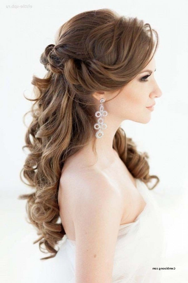 Luxury Wedding Hairstyles For Long Hair Half Up Half Down 2018 Inside Down Long Hair Wedding Hairstyles (View 9 of 15)