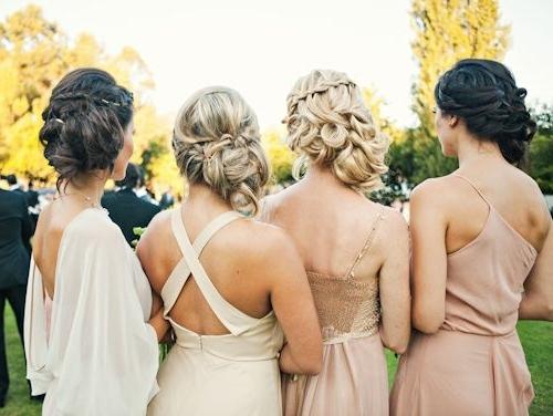 Malibu Wedding A Midsummer Night's Dream – Joy Marie Photography Within Garden Wedding Hairstyles For Bridesmaids (View 10 of 15)