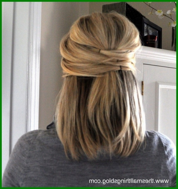 Marvelous Hair Style Medium Length Wedding Image Of Simple And Regarding Diy Wedding Hairstyles For Medium Length Hair (View 10 of 15)