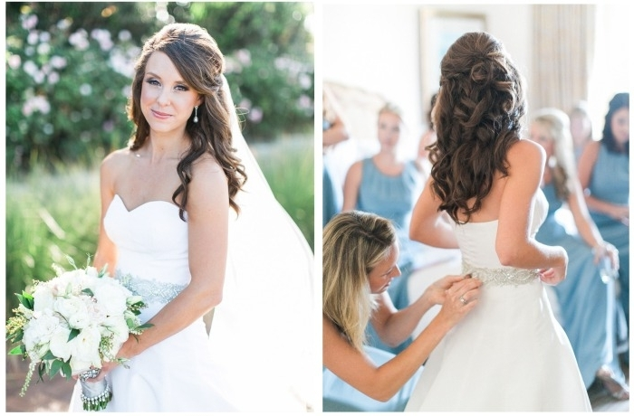 Match Your Wedding Veil With A Bridal Hairstyle – How To Choose A Throughout Wedding Hairstyles For Long Hair Half Up With Veil (View 13 of 15)