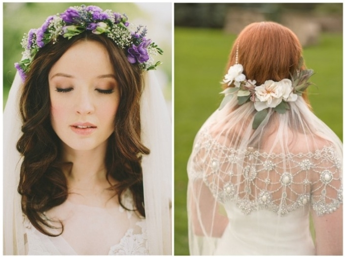 Match Your Wedding Veil With A Bridal Hairstyle – How To Choose A Throughout Wedding Hairstyles With Veil And Flower (View 10 of 15)