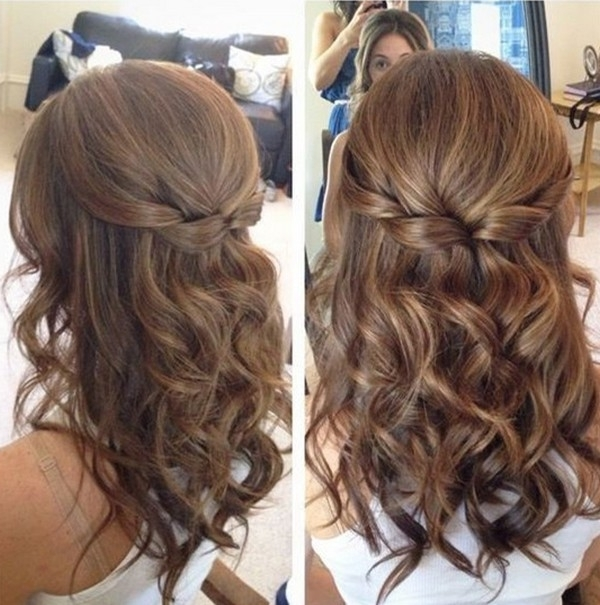Medium Length Bridal Hairstyles Half Up Half Down – Emmalovesweddings Intended For Down Medium Hair Wedding Hairstyles (View 10 of 15)