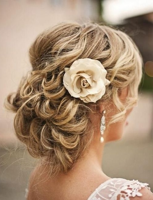 Medium Length Hairstyle For Brides 2017 2018   Romantic Wedding With Romantic Bridal Hairstyles For Medium Length Hair (View 4 of 15)