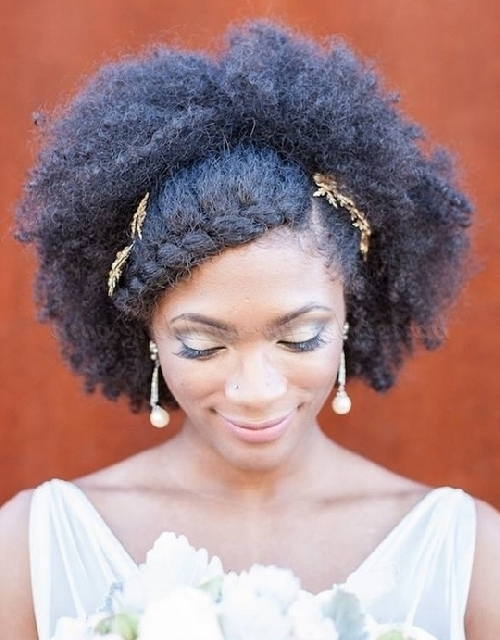 Medium Length Wedding Hairstyles For Natural Curly Hair – Medium Pertaining To Wedding Hairstyles For Medium Length Natural Hair (View 10 of 15)