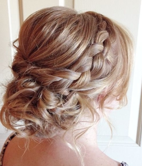 Messy Braided Low Updo Wedding Hairstyle – Modwedding Pertaining To Low Updo Wedding Hairstyles (View 8 of 15)