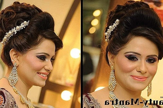 Showing Gallery Of Indian Bun Wedding Hairstyles View 5 Of 15 Photos
