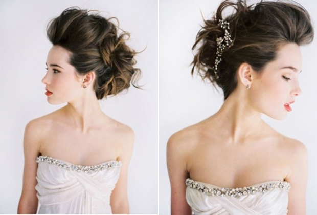 Messy Hair Don't Care! 16 Messy Bridal Hairstyles That Just Don't With Quiff Wedding Hairstyles (View 7 of 15)