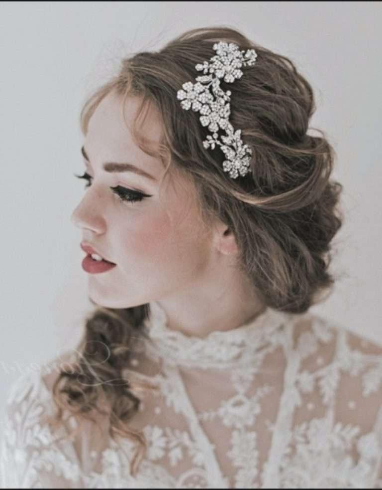Mid Length Wedding Hairstyles Elegant Wedding Hairstyles With Tiara Within Wedding Hairstyles For Shoulder Length Hair With Tiara (View 9 of 15)